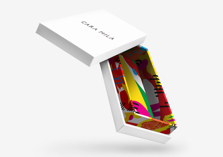 Cara Mila packaging, product ticketing and stationery by Luxury Branding
